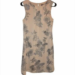 Atmosphere Floral Lined Shift Dress Pink Small